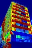 Temperaturkarte eines Gebäudes in Bukarest lizenzfreie stockbilder