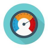 Temperaturmessgerät benutzt, wenn Grill mit der Ausrüstung gekocht wird vektor abbildung