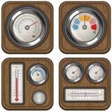 Temperaturowi metry Zdjęcie Stock