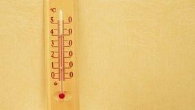 Temperaturowy wydźwignięcie na termometrze zdjęcie wideo