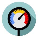 Temperaturowy wymiernik Zdjęcie Stock
