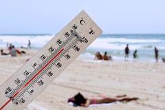 temperaturwave för värme arkivbild