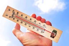 temperaturwave för värme Arkivfoton