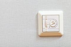 Temperatuurcontrolemechanisme van elektrische het verwarmen vloer Stock Fotografie