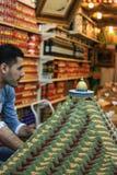 Tempere o vendedor, Jerusalém do leste, Jerusalém, Palestina, Israel 17 04 fotos de stock