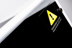 Tempered Glass Warning Stock Photography