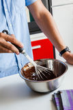 Tempering Chocolate Royalty Free Stock Photography