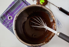 Tempering Chocolate Royalty Free Stock Photo