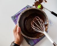 Tempering Chocolate Royalty Free Stock Image