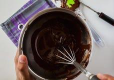 Tempering Chocolate Stock Photos