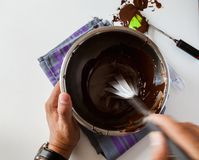 Tempering Chocolate Stock Image