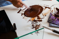 Tempering Chocolate Stock Photos