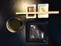 Tempero do prato do sushi imagens de stock