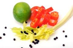 Tempero e vegetal Foto de Stock