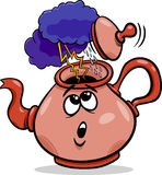 Tempest in a teacup saying cartoon. Cartoon Humor Concept Illustration of Tempest in a Teacup Saying or Proverb Stock Images