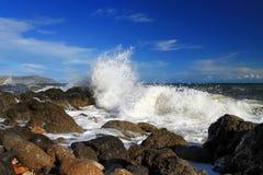 Tempesta al mare Fotografia Stock Libera da Diritti