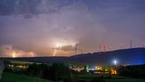Tempesta alla notte Immagine Stock