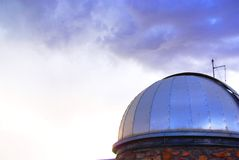 Tempesta & osservatorio Fotografia Stock Libera da Diritti