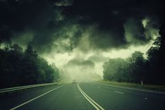 Tempesta apocalittica Immagini Stock