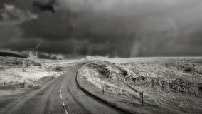 Tempesta in bianco e nero di Dartmoor di immagine Fotografia Stock Libera da Diritti