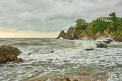 Tempesta che viene al mare Fotografia Stock