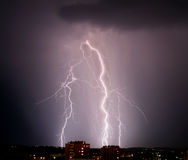 Tempesta chiara fotografia stock
