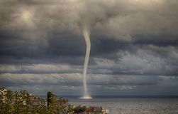 Tempesta con un tornado 2 Fotografie Stock