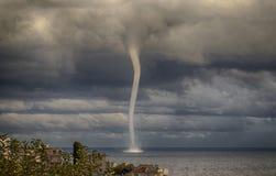 Tempesta con un tornado 2 Immagini Stock