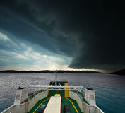 Tempesta d'avvicinamento Fotografia Stock