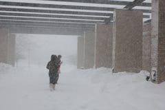 Tempesta del Chicago -- Allievi a IIT Fotografia Stock Libera da Diritti