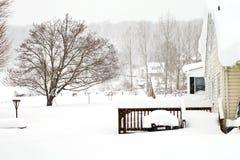 Tempesta del febbraio 2010 Fotografia Stock Libera da Diritti