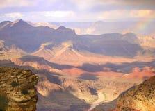 Tempesta del grande canyon Immagine Stock