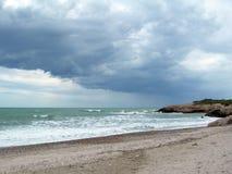Tempesta del mare Immagini Stock