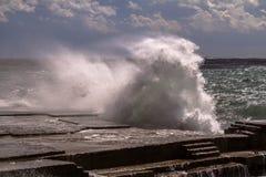 Tempesta del mare Immagine Stock Libera da Diritti