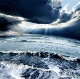 Tempesta del mare Fotografie Stock Libere da Diritti