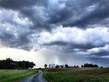 Tempesta del paese Fotografia Stock Libera da Diritti