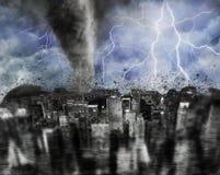 Tempesta della città Fotografia Stock Libera da Diritti