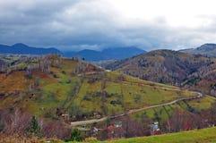 Tempesta della montagna immagine stock