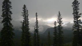 Tempesta della montagna Fotografie Stock