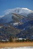 Tempesta della montagna in inverno Fotografia Stock Libera da Diritti