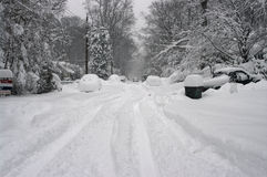 Tempesta della neve Fotografie Stock