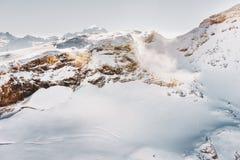 Tempesta della neve in alpi svizzere Fotografia Stock Libera da Diritti