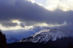Tempesta della neve della montagna Immagini Stock Libere da Diritti