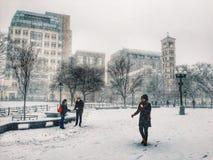 Tempesta della neve a New York Fotografia Stock