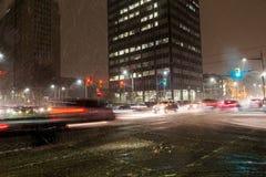 Tempesta della neve a Toronto Immagini Stock
