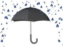 Tempesta della pioggia dell'ombrello Fotografia Stock