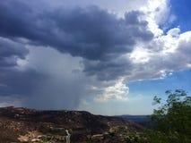Tempesta della pioggia di estate Fotografia Stock Libera da Diritti
