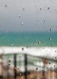 Tempesta della pioggia ma all'interno Fotografie Stock
