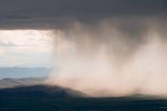 Tempesta della pioggia, paese Basque (Spagna) fotografia stock libera da diritti
