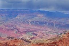 Tempesta della pioggia sopra Grand Canyon Immagini Stock